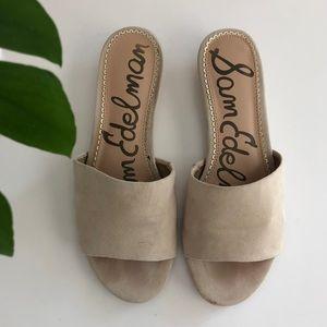Sam Edelman White Liliana Wedge Sandals Size 7.5